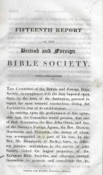 Anon. Fifteenth Report of the British and Foreign Bible Society.