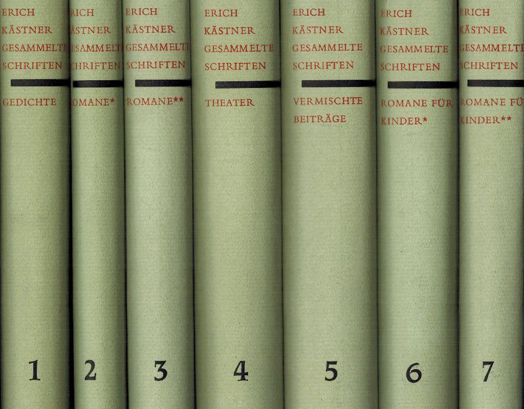 Kästner Gesammelte Schriften Band 1 7 Band 1 Gedichte Band 2 Romane I Band